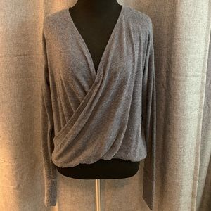 Abercrombie & Fitch Criss Cross Long Sleeve Top
